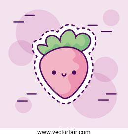 fresh and delicious strawberry kawaii style