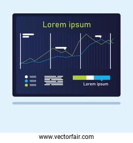 increase line chart infographic vector design