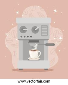 poster with coffee maker icon