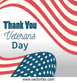 happy veterans day, thank you American flag national celebration