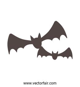 flying bats animals isolated design icon