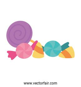 sweet candies and gums isolated design icon