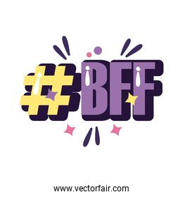 slang expresion bff word line and fill style