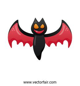 halloween bat flying degradient style icon