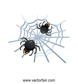 halloween spider net degradient style icon
