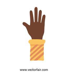 afro hand human stop protesting flat style icon