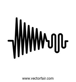 high and low sound frequency, vector illustration