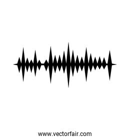 sound waves icon over white background, vector illustration