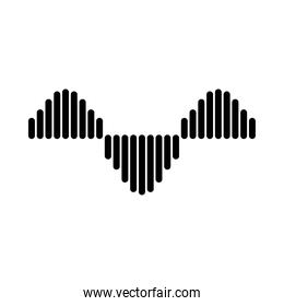 sound waves shapes icon, vector illustration