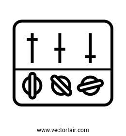 equalizer control icon, vector illustration