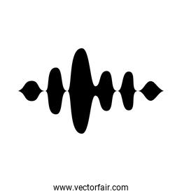 icon of sound wave, vector illustration