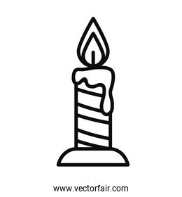 candle icon image, line style