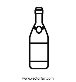 champagne bottle icon, line style