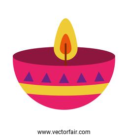 candle of day of dead, flat style
