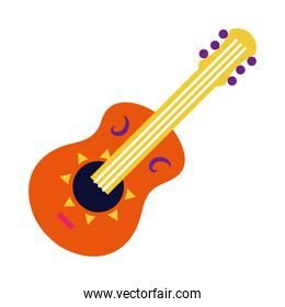 guitar instrument icon, flat style