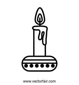 candle on stand icon, line style