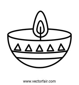 candle of day of dead, line style