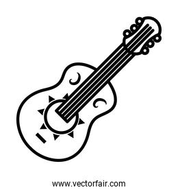 guitar instrument icon, line style