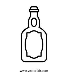 icon of tequila bottle, line style