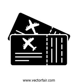 boarding passes icon, silhouette style