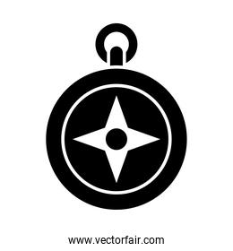 compass icon image, silhouette style