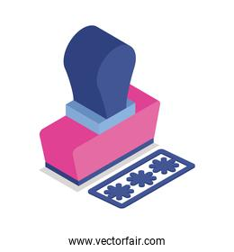 rubber seal isometric style icon
