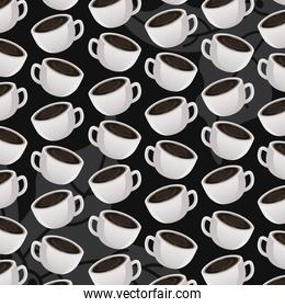international coffee day celebration with cups pattern