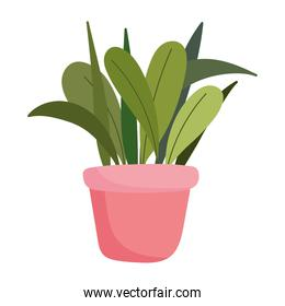 gardening, potted plant foliage ornament isolated icon style