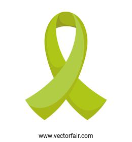 green ribbon awareness campaign, isolated icon style