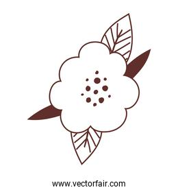 flower leaves foliage nature isolated icon design line style