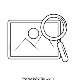 search icon, picture internet button magnifier line style