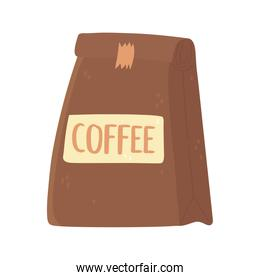 coffee pack product gourmet isolated icon style