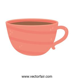 coffee ceramic cup utensil isolated icon style