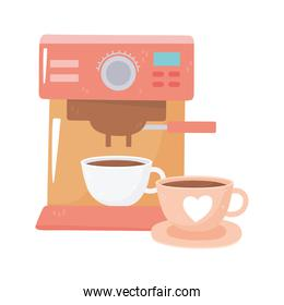 international day of coffee, machine and cups