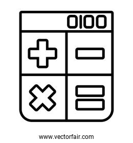 calculator and browser icon, line style