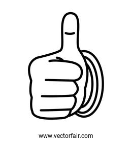 Hand gesture with good expression, line style