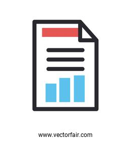 document line and fill style icon vector design