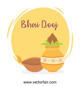 happy bhai dooj, indian family celebration relation sisters and brothers