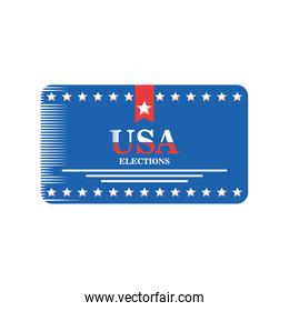 usa elections in frame with stars detailed style icon vector design