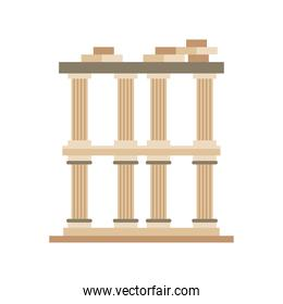 Turkish pergamum building detailed style icon vector design
