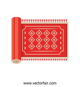 Turkish red carpet detailed style icon vector design