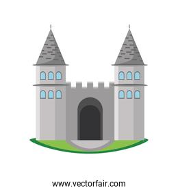 Turkish topkapi palace building detailed style icon vector design