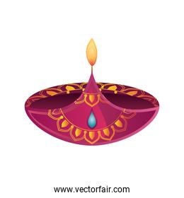 festival of lights, candle decorative element in white background