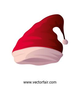 red christmas hat on white background