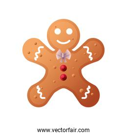 gingerbread man cookie on white background