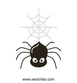 halloween spider flat style icon