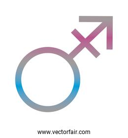 male gender symbol of sexual orientation degradient style icon