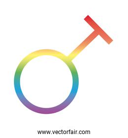 travesty gender symbol of sexual orientation degradient style icon