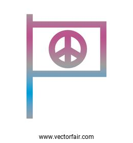peace symbol in flag degradient style icon