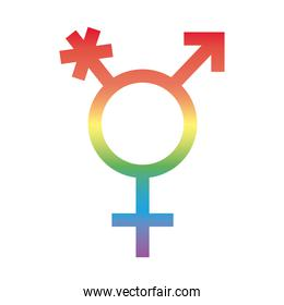 gender symbol of sexual orientation degradient style icon